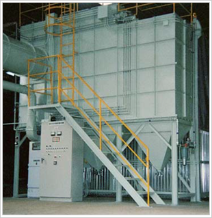 傾斜流排気装置